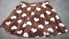 Gymboree Kitty Glamour Brown Pink Velour Heart Skirt Size 3