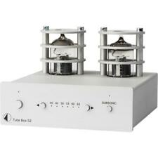 Pro-Ject Tube Box S2 MM/MC Röhren Phono-Vorverstärker phono preamp silber silver