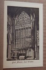 Postcard York Minster East window Embossed border Friths Card  unposted
