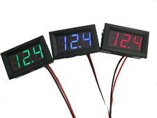 30V DC Panel Voltmeter 2 wire Battery Electric Car, Bike, Motor Voltage Display