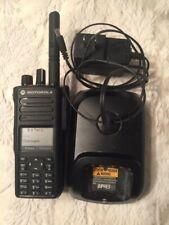 Motorola MOTOTRBO Xpr7550e UHF DMR Analog GPS WiFi with Charger.