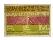 R.E.M. Poster Rem R E M Dead Letter Office Old