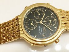 LASSALE BY SEIKO CAW002 MEN'S NON-WORKING 22 KT GOLD PLATED CHRONO WATCH 67226A0
