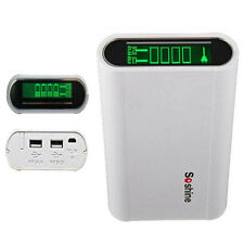 LCD Intelligent 18650 Battery Charger+USB Portable Power Bank For Mobile Phone