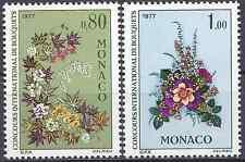 FRANCIA MÓNACO Nº1076 + Nº1077 - NUEVO CON GOMA ORIGINAL - CARA