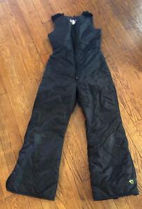 Vintage Arctic Cat Arcticwear Unisex Adult Black Snowmobile Bibs Pants Size S