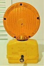New listing Yellow Flashing Light Flex-O-Lite Signal Paralta Barricade Untested Man Cave