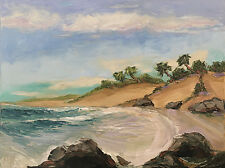 SOUTHERN CALIFORNIA Original Seascape Impression Oil Painting 18x24 071517 KEN