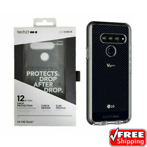 NEW Tech21 Evo Check Case LG V40 ThinQ Slim Heavy Duty Protective BLACK