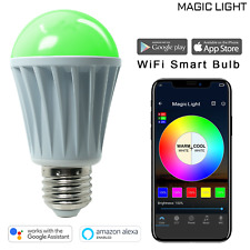 MagicLight WiFi LED Light Bulb Works with Alexa - Smartphone Controlled