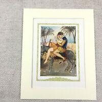 1920 Vintage Erotica Print Young Girl Riding a Donkey Don Giovanni Juan Opera