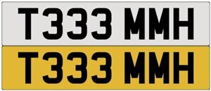 TOMMY NUMBER PLATE PRIVATE STYLE :TOM TOMI TOMMIE TOMY TOMHH TOM  REG T333 MMH