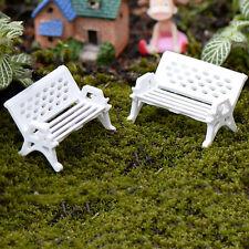 1/5pc Garden Ornament Miniature Park Seat Bench Craft Fairy Dollhouse Decor Md