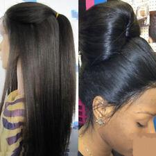 Light Yaki Straight Brazilian Human Hair Full Lace Wigs Glueless Lace Front Wigs