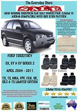 Ford Territory SX/SY/SY2 04-11 Genuine Sheepskin Car Seat Covers Pr 22MM AB Safe