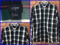 J.CREW Green Tartan Plaid L/S Btn Front Casual Sport Modern Dress Shirt Mens Lg