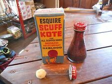 ** New ( Old Stock ) Vintage Esquire Scuff Kote Oxblood Shoe Polish w/ Box **
