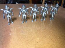 "AJAX / ARCHER SILVER SPACEWOMEN. FIVE hard plastic Figures 4"" TALL AS SHOWN"