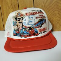 Vintage RICHARD PETTY Trucker Hat KANDI TOPS King Cap Nascar Pontiac Snapback 80