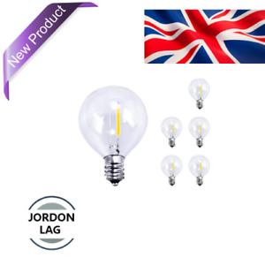 Romanjoy 6 Pack G40 Led Replacement Bulbs, 1W (10W Equivalent), E12 Edison Base
