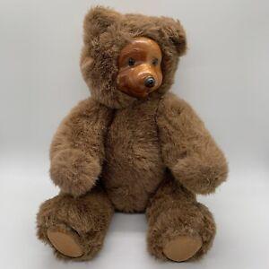 """Robert Raikes 1988 Wooden Teddy Bear 11"""""""