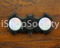 LED Bat Fidget Tri Spinner Hand Spinner EDC Gyro Anxiety Toy ADHD -USA- BLACK