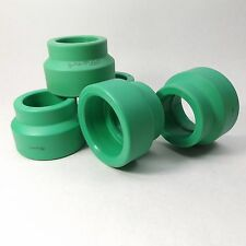 "LOT OF 5 - AQUATHERM 0111238 GREEN PIPE 2"" X 1-1/2"" FEMALE REDUCING COUPLER"