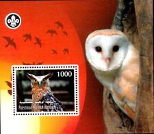 Palestinian Authority, Birds, Owl, M/S MNH