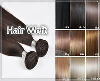 "24"" Remy Indian Human Hair Extension Weft Black/Brown/Blonde DOUBLE DRAWN 100g"