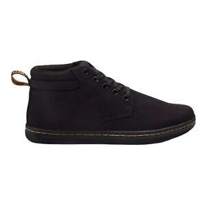 Men's Dr. Martens Maleke Black Leather Twill Canvas Shoes 22357001  Size 11