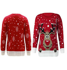 Unisex Men Women's Ladies Vintage Rainder Rudolph Christmas Knit Jumper Sweater