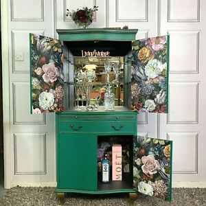 Drinks Cabinet Bevan Funnell Cocktail Cabinet Green & Gold