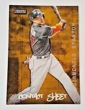 "2017 TOPPS SC GIANCARLO STANTON 5X7"" JUMBO ART CARD SP GOLD #01/10 RARE MARLINS"