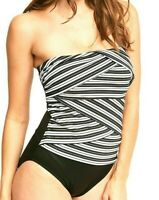 Miraclesuit Swimsuit 8 Mayan Stripe Layered Muse Bandeau Underwire One Piece