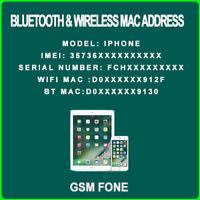 CHECK APPLE DEVICE / IPAD IPHONE IMAC / BLUETOOTH & WIFI MAC ADRESSE CHECK