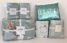 Pottery Barn Kids Frozen Full Queen Quilt Shams Sheets Pillow Bed Skirt Set NEW