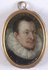 """Portrait of a 25-year-old man"", Spanish oil on copper miniature, 1625/30"