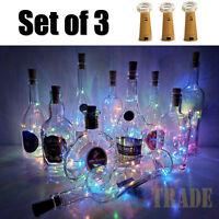 Lot Wine Bottle Cork Lights Copper Led Light Strips Rope Lamp Kit DIY for Decor