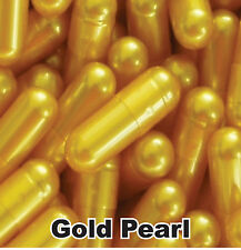 500x NEW EMPTY GELATIN CAPSULES SIZE 0 (Kosher) CAPS PILL Color - GOLD PEARL