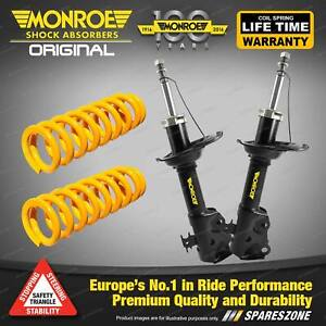 Front Raised Monroe Shock Absorbers King Springs for SUBARU FORESTER SF 2.0 2.5L