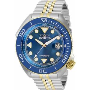 Invicta Pro Diver 30416 Men Two Tone Automatic Exhibiton Blue Dial Watch