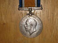 WW1 silver British War Medal Canadian named to Hakin Single Medal Entitlement