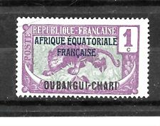 UBANGI-SHARI Stamps- Scott # 41/A1-1c-Mint/H-1924-33-OG