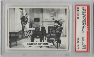 1966 Topps Superman #25 Saved By Superman PSA 8