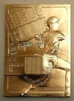 CAL RIPKEN JR. AUTOGRAPHED LIMITED EDITION 23KT GOLD CARD! GAME USED BAT!