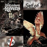 🔥🚨 AN UNKINDNESS OF RAVENS #1 SET OF 2 Main + Khalidah Variant NM Gemini