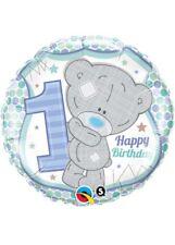 Blue Tatty Teddy 1st Birthday Helium Balloon