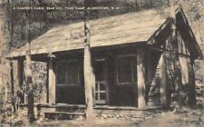 ALLENSTOWN, NH  New Hampshire     BEAR HILL POND CAMP-Cabin   1939  Postcard
