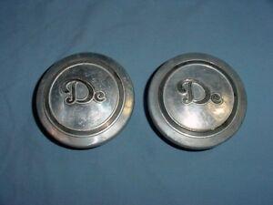 Desoto Vintage Screw On Wood Wheel Hubcaps 1929 1930 1931 1932 1933 1934