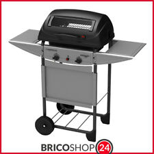 Barbecue Campingaz a Gas Pietra Lavica Expert 2 Fornelli BBQ con Coperchio 7kw